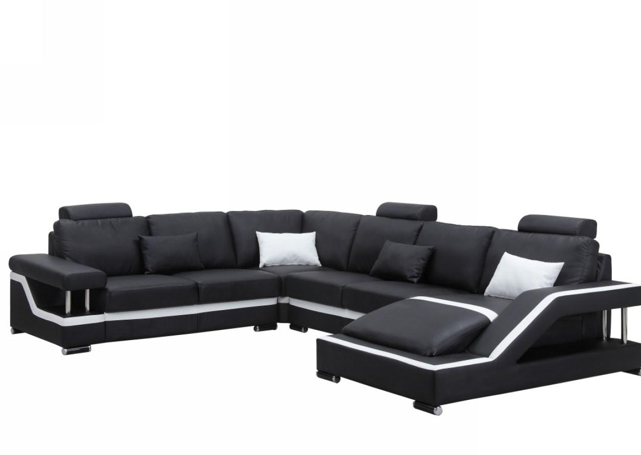 Sofa : T60 Ultra Modern White Leather Sectional Sofa And Lovely With Regard To Oval Sofas (Image 17 of 21)