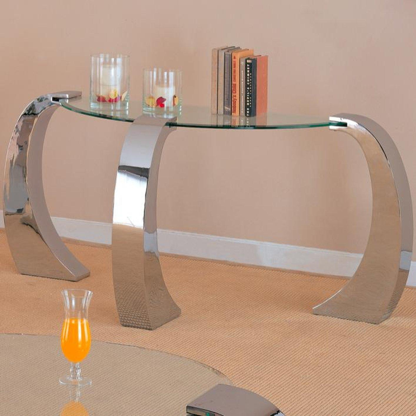 Sofa Table Design: Glass Sofa Tables Contemporary Astounding Glam Inside Metal Glass Sofa Tables (Image 18 of 22)