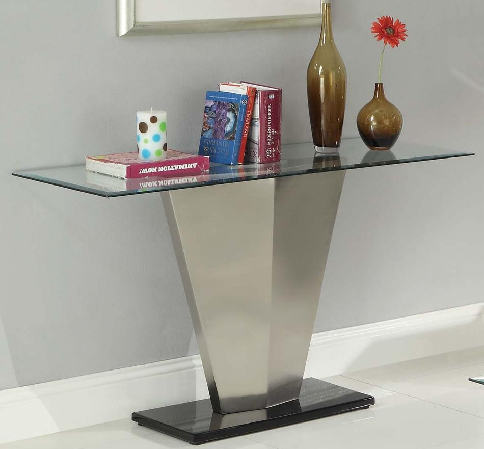 Sofa Table Design: Glass Sofa Tables Contemporary Astounding Glam Regarding Metal Glass Sofa Tables (Image 20 of 22)