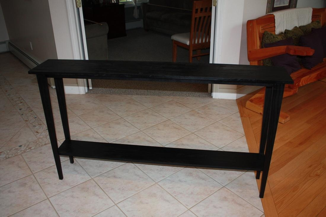 Sofa Table Design: Long Narrow Sofa Table Magnificent Traditional Regarding Narrow Sofa Tables (View 4 of 23)