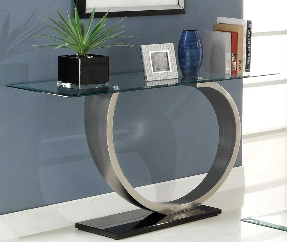 Sofa Table Design: New Collection Glass Sofa Tables Contemporary With Regard To Metal Glass Sofa Tables (Image 21 of 22)