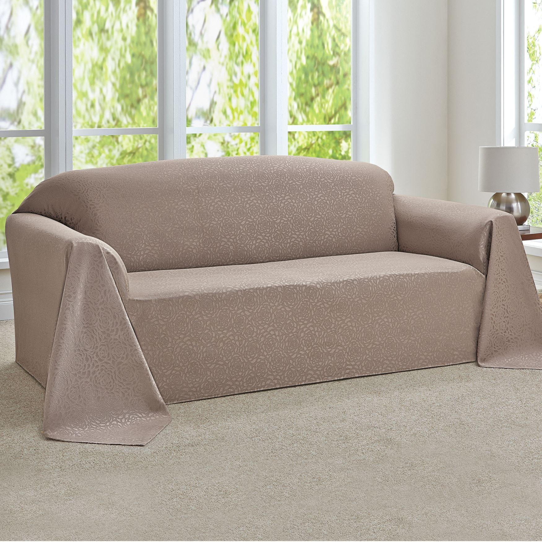 Sofas : Awesome Leather Couch Covers Sofa Throw Covers Modern Sofa Inside Large Sofa Slipcovers (View 10 of 23)
