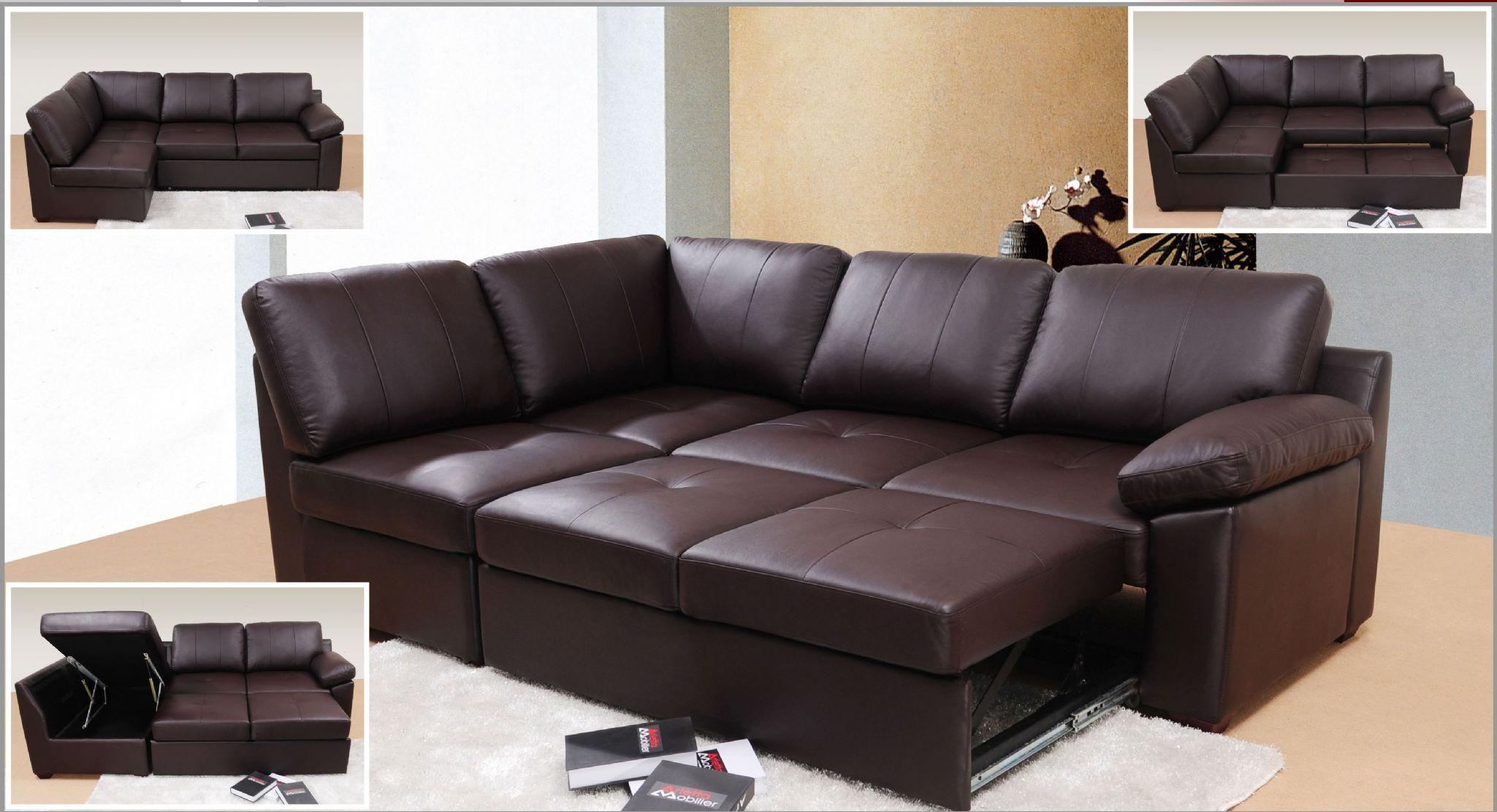 Sofas : Awesome Queen Sofa Bed Bed And Sofa Leather Corner Sofa Inside Small Brown Leather Corner Sofas (Image 18 of 21)