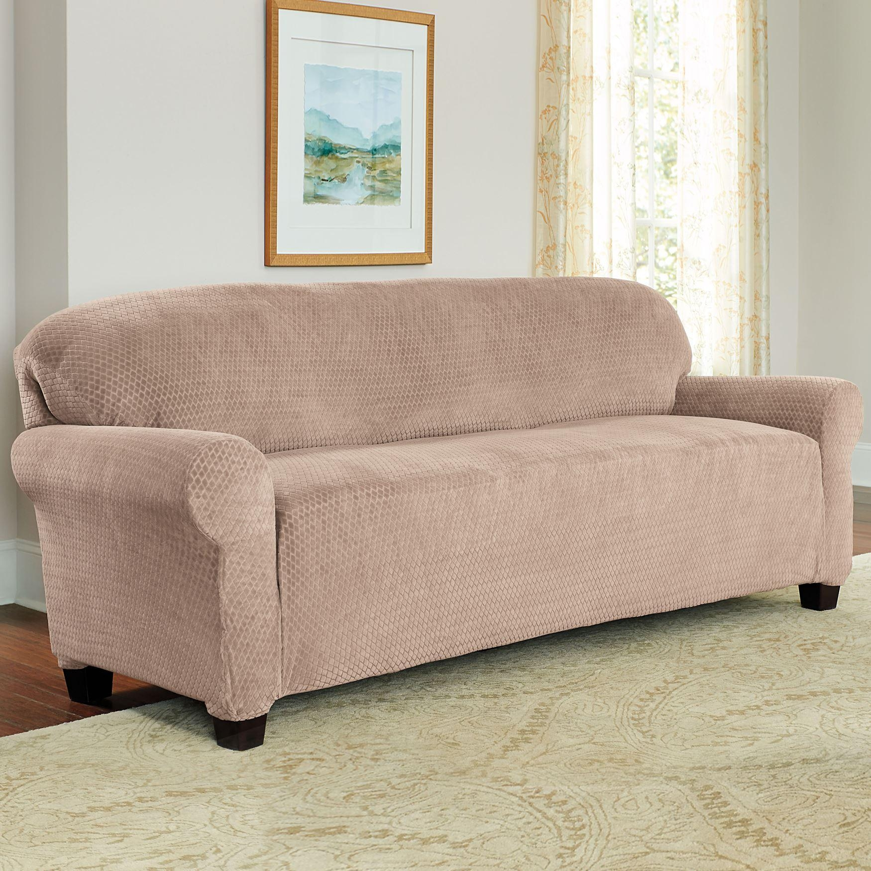 Sofas : Awesome Sofa Protector Couch Arm Covers Sure Fit Sofa With Large Sofa Slipcovers (View 6 of 23)
