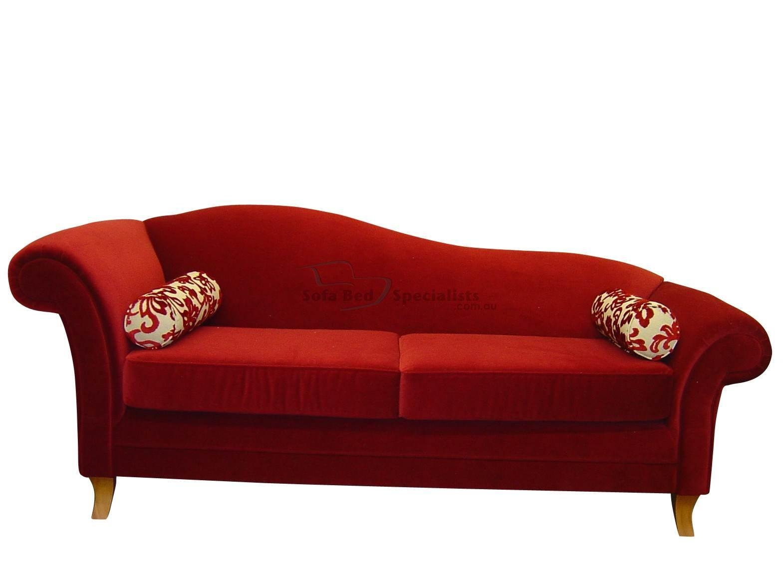 20 choices of red sofa beds ikea sofa ideas for Chaise bed sofa