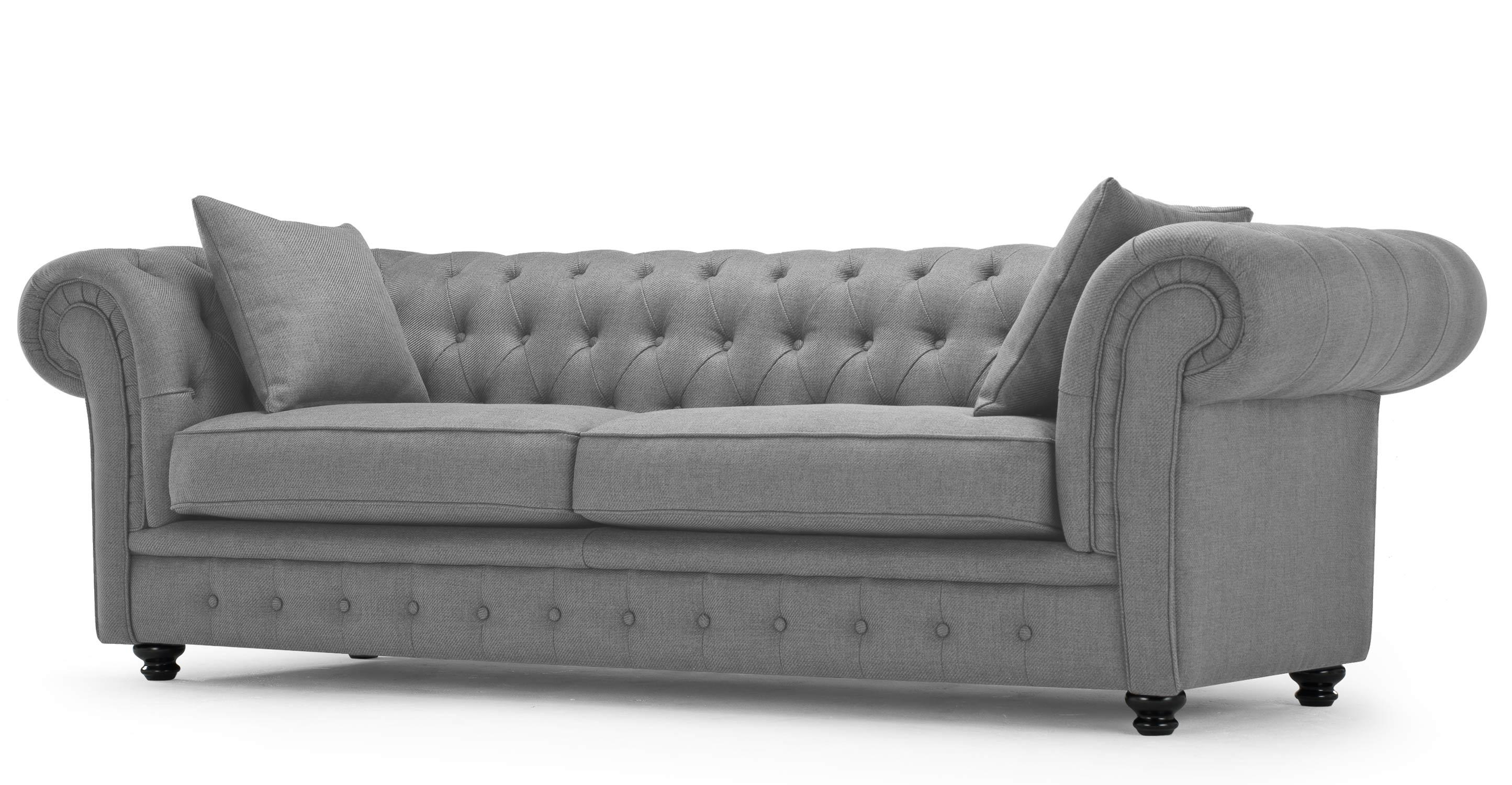 Sofas : Fabulous Green Chesterfield Sofa Chaise Sofa Tufted Within Cheap Tufted Sofas (Image 13 of 23)