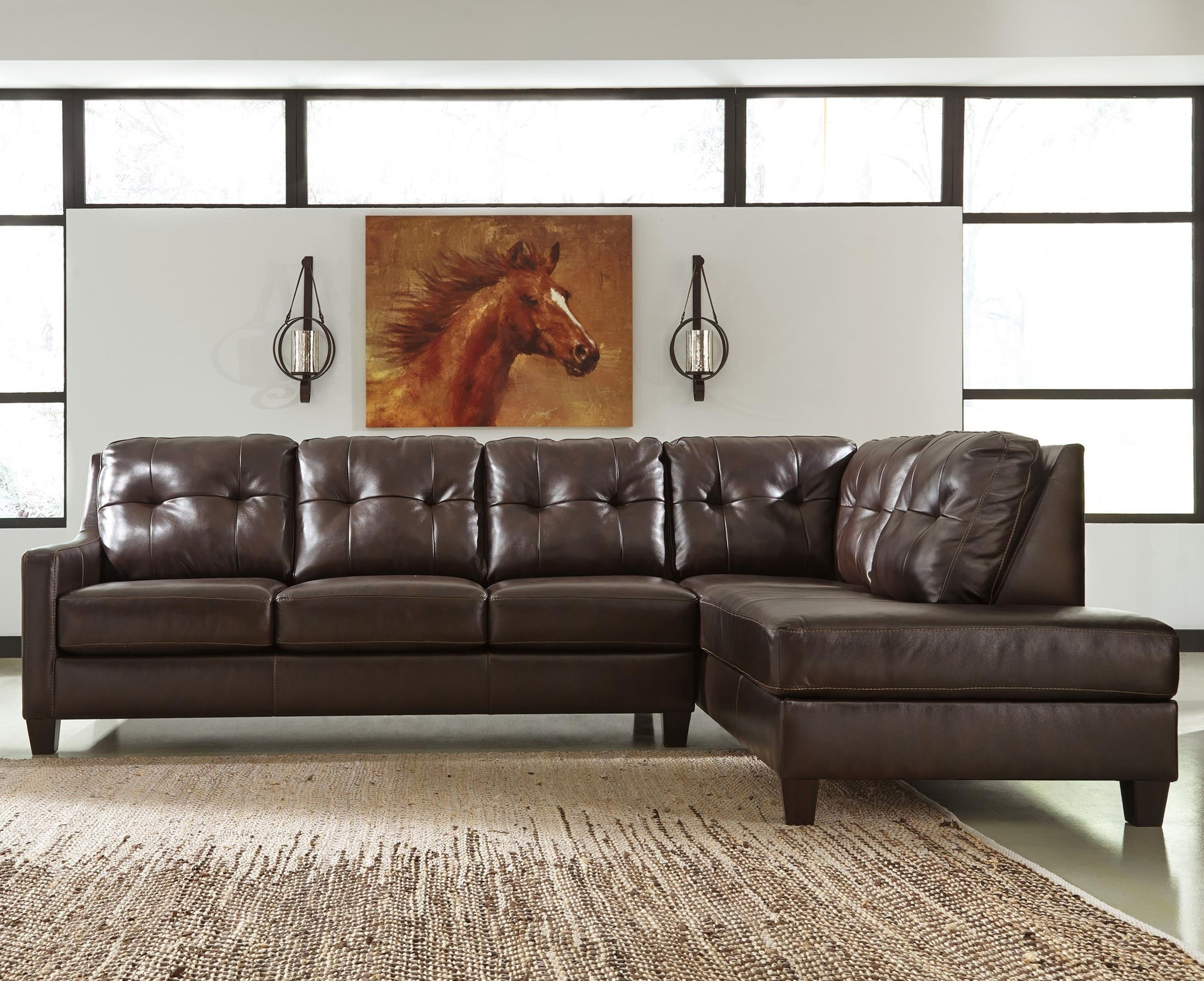Sofas : Fabulous Modern Leather Sectional Best Sectional Sofa Two Throughout Small 2 Piece Sectional Sofas (View 8 of 23)