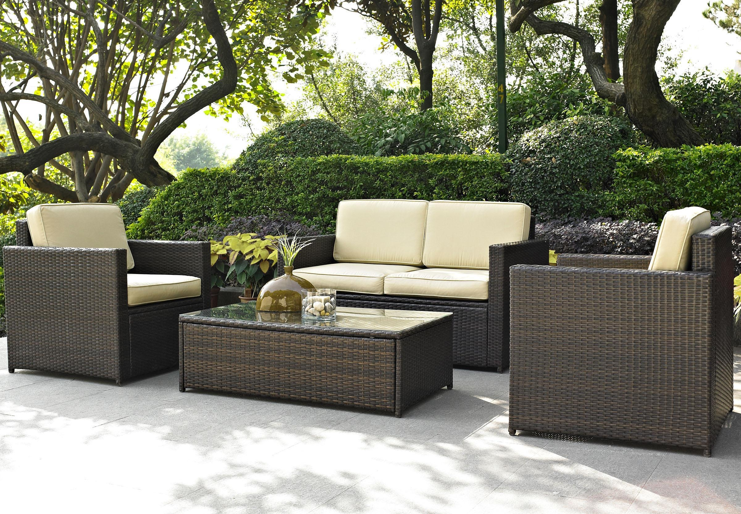 Sofas : Fabulous Outdoor Patio Set Wicker Porch Furniture Rattan With Modern Rattan Sofas (Image 19 of 23)