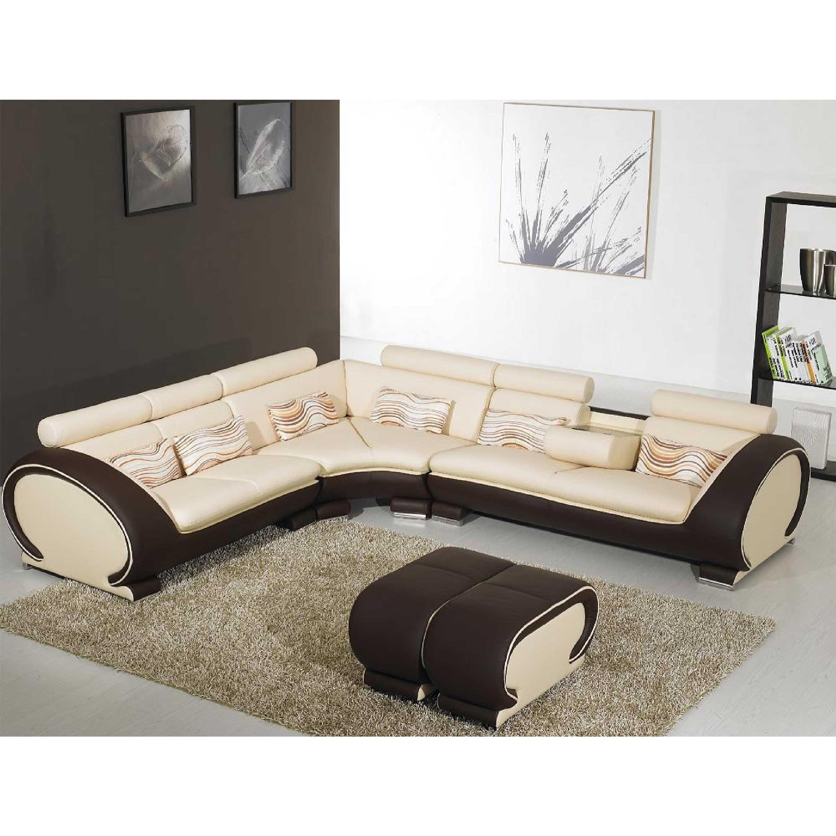 Sofas : Marvelous Leather Sofa Set Contemporary Sectionals L Regarding Unique Corner Sofas (Image 14 of 21)