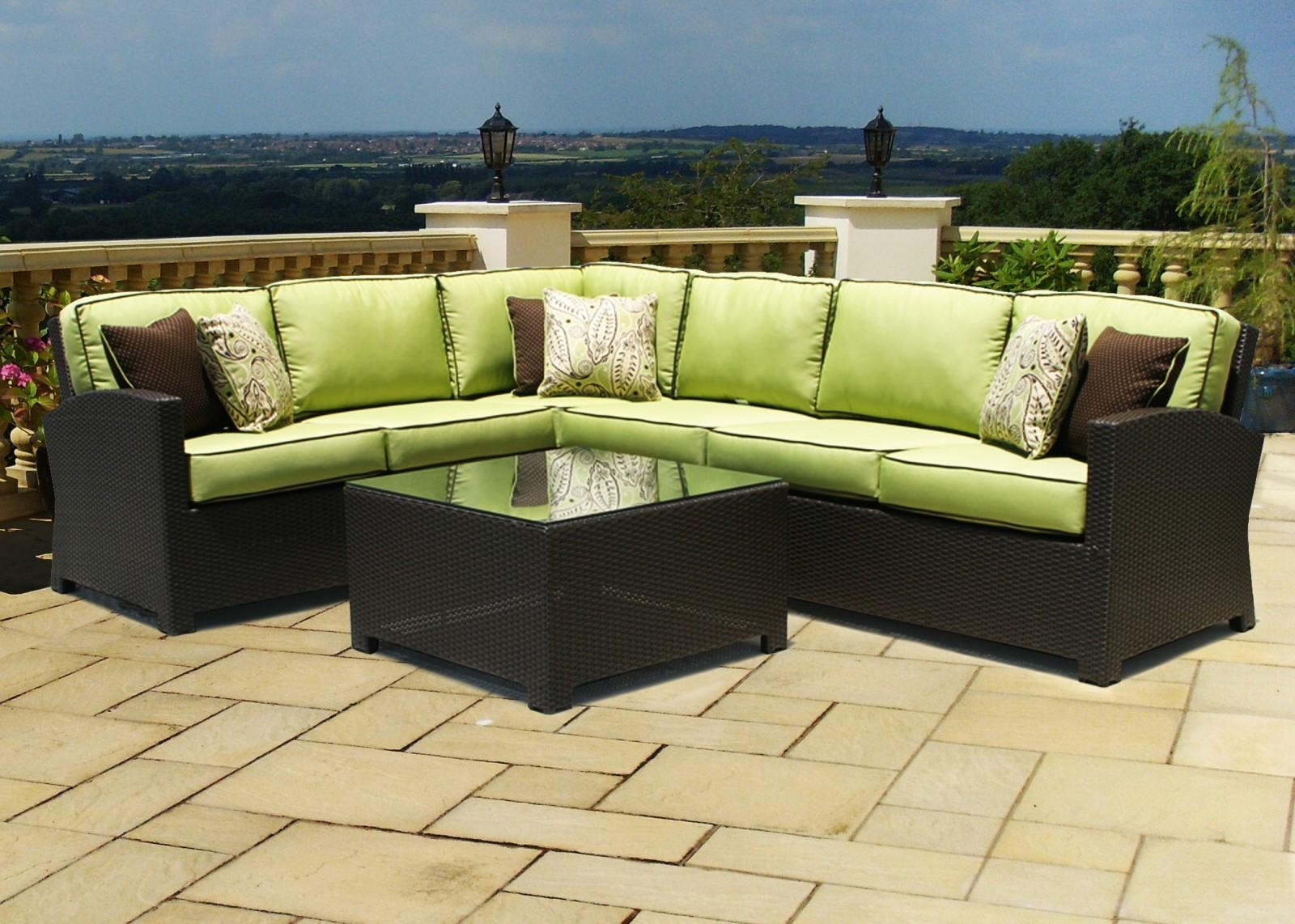 Sofas : Marvelous Outside Chair Cushions Rattan Furniture Cushions Throughout Cheap Patio Sofas (View 13 of 22)