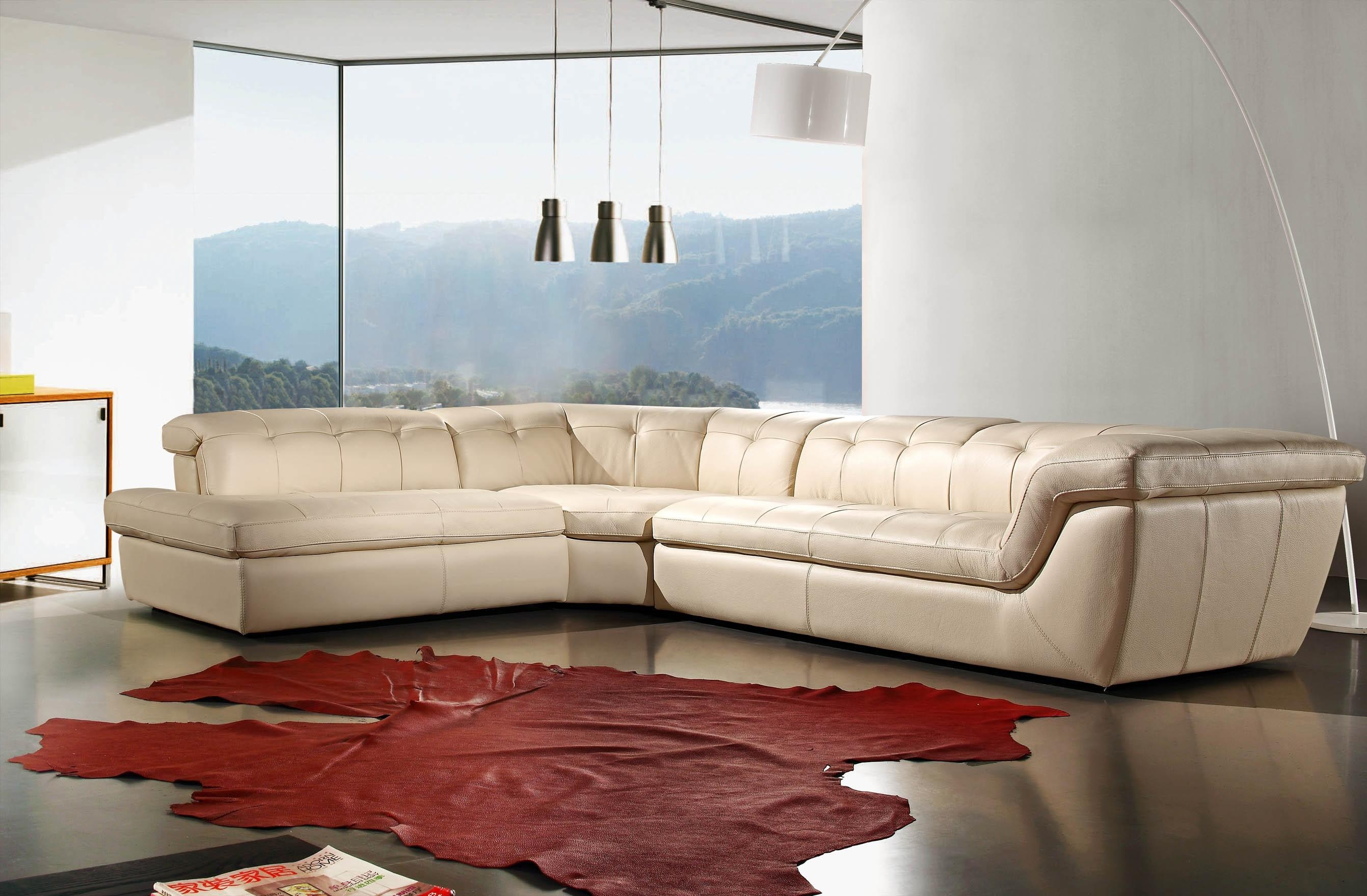Sofas : Marvelous Wrap Around Couch Sectional Sofa With Chaise 3 Intended For Cream Sectional Leather Sofas (Image 22 of 22)