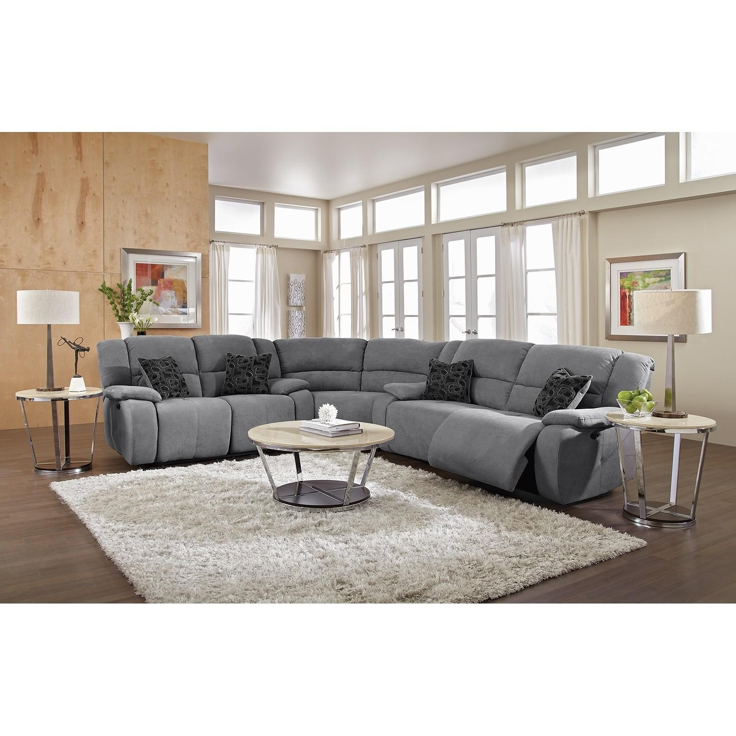 Sofas : Wonderful Black Sectional Couch Grey Sectional Couch Within Gray Leather Sectional Sofas (View 21 of 21)