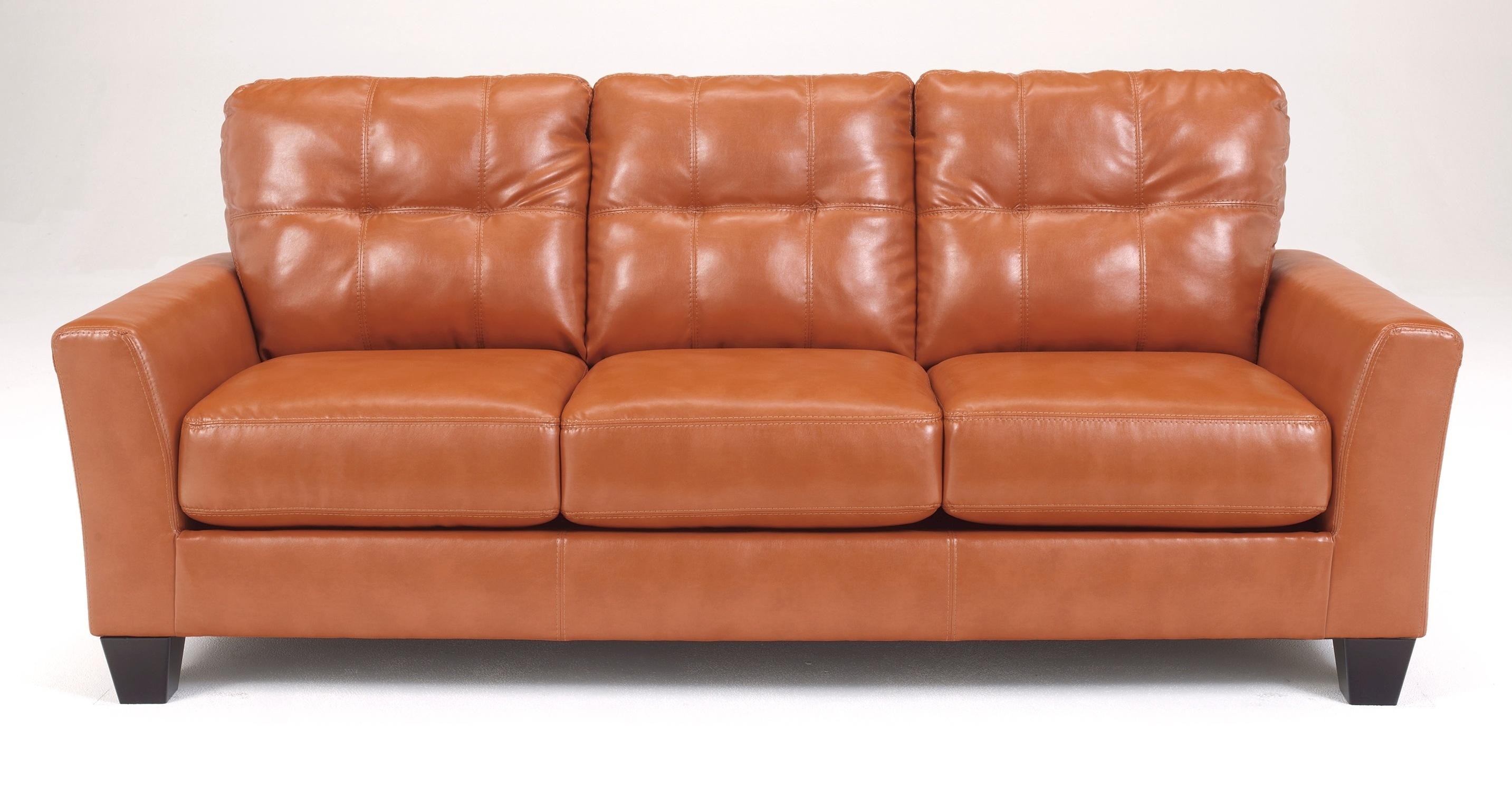 Sofas : Wonderful Distressed Leather Sofa Fabric Sofas Leather With Leather And Material Sofas (Image 20 of 21)