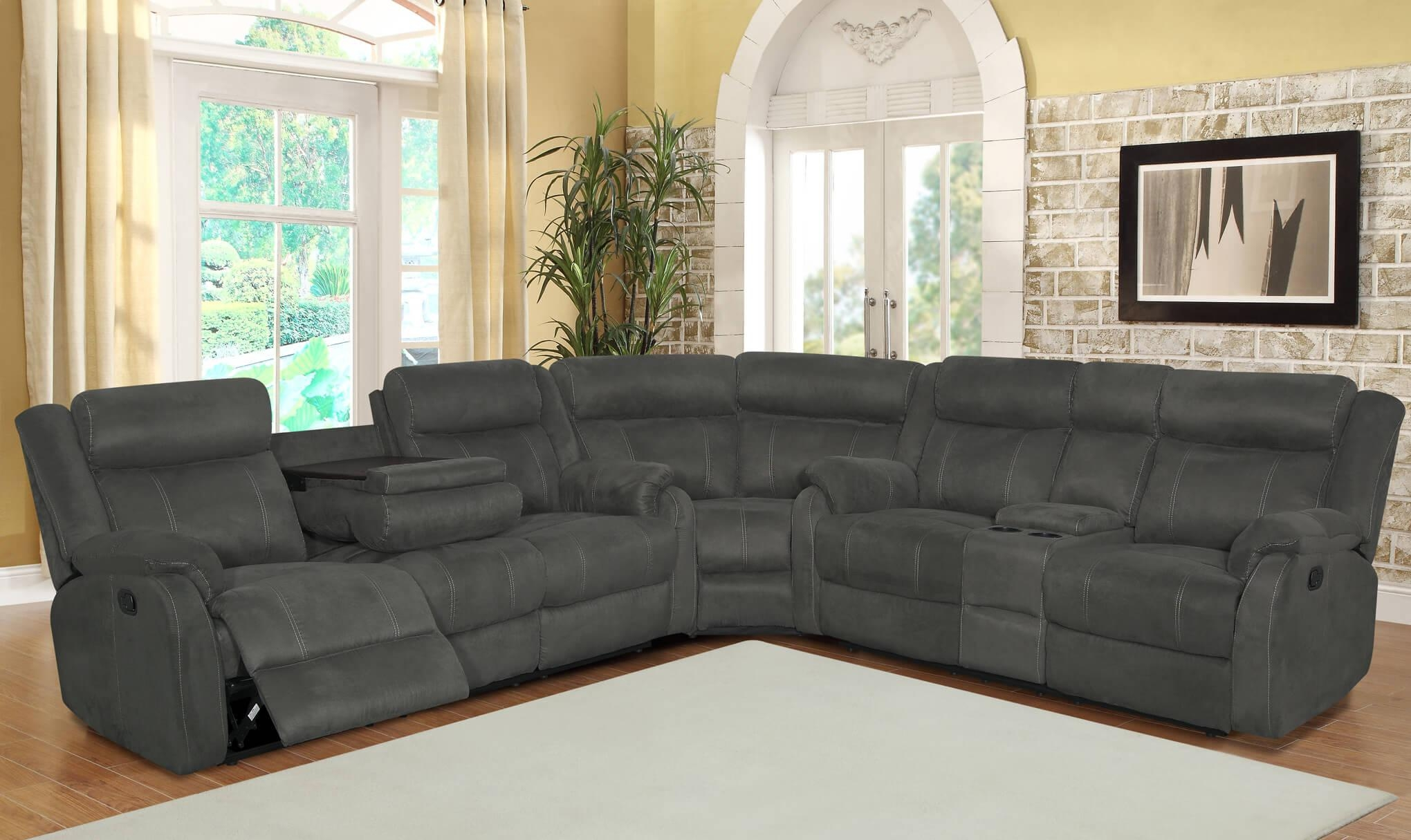 Sofas : Wonderful Reclining Sectional With Chaise Leather Regarding Recliner Sectional Sofas (Image 22 of 22)