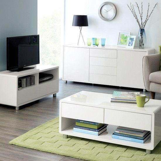 Soho White Gloss Tv Stand | Dunelm | Tv | Pinterest | Tv Stands Pertaining To Best And Newest Soho Tv Unit (Image 12 of 20)