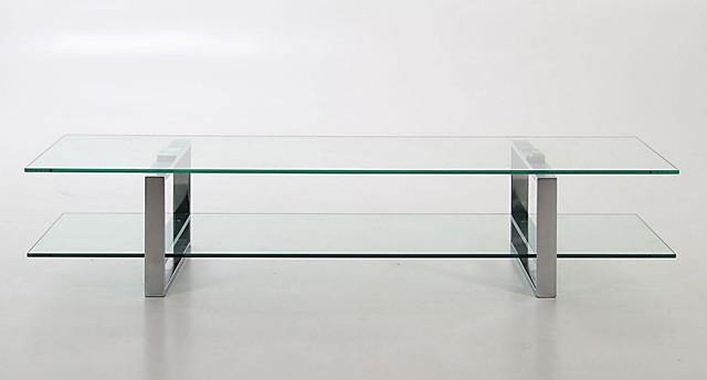 Solera Glass Tv Table – Contemporary – Tv Stands & Units Danetti Inside Best And Newest Contemporary Glass Tv Stands (View 13 of 20)
