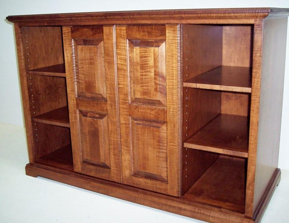 Solid Curly Maple Tv Cabinet | Eagle Cabinets In Most Up To Date Maple Tv Cabinets (Image 14 of 20)