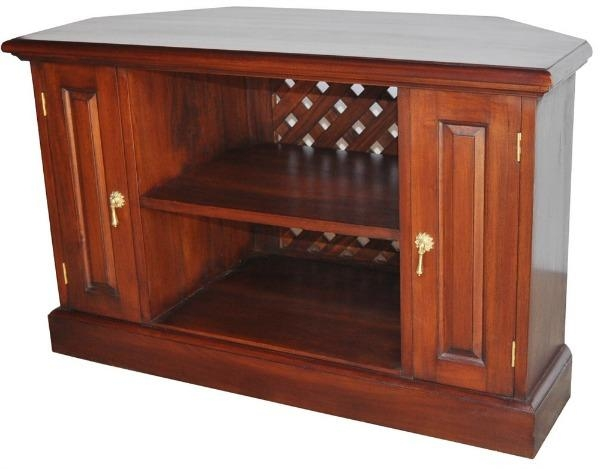 Solid Mahogany Corner Tv Unit Cbn002 – Lock Stock & Barrel Within 2017 Mahogany Corner Tv Cabinets (Image 19 of 20)