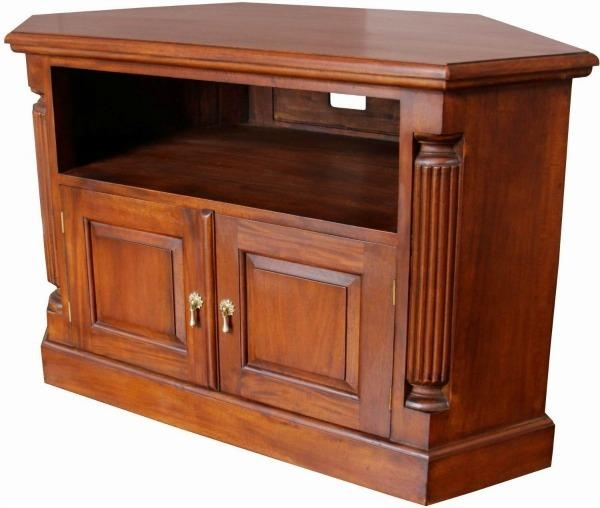 Solid Mahogany Pillar Corner Tv Unit Cbn062 – Lock Stock & Barrel Within Most Popular Mahogany Tv Cabinets (Image 18 of 20)