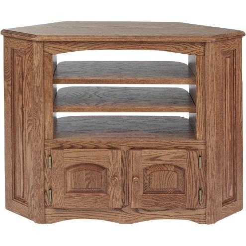 Solid Oak Country Style Corner Tv Stand – 41″ – The Oak Furniture Shop Inside Most Current Country Style Tv Stands (Image 15 of 20)
