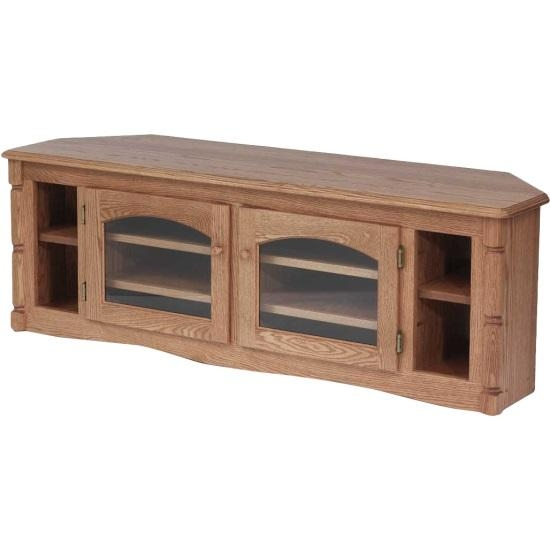 Solid Oak Country Style Corner Tv Stand – 60″ – The Oak Furniture Shop Intended For Recent Country Style Tv Stands (Image 16 of 20)