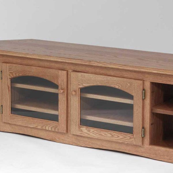 Solid Oak Country Style Corner Tv Stand – 60″ – The Oak Furniture Shop Within Newest Solid Oak Corner Tv Cabinets (Image 15 of 20)