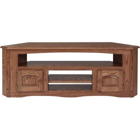 Solid Oak Country Style Corner Tv Stand – 61″ – The Oak Furniture Shop Throughout 2017 Corner Oak Tv Stands (Image 15 of 20)