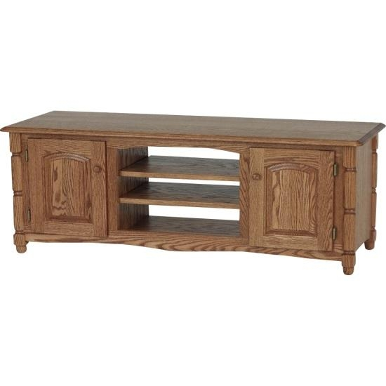 Solid Oak Country Style Tv Stand W/cabinet – 60″ – The Oak With Regard To Recent Country Style Tv Cabinets (View 16 of 20)