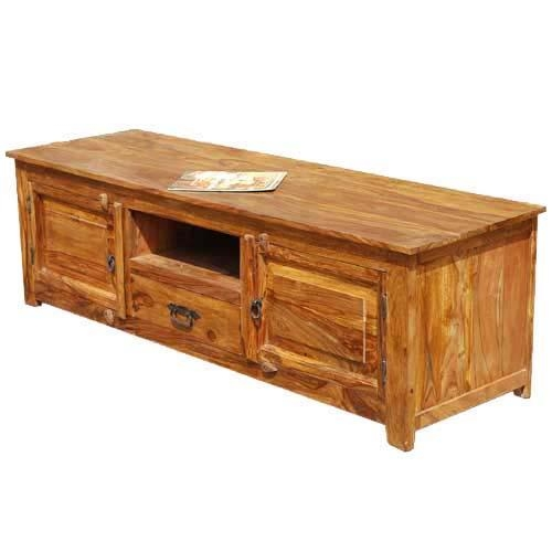 Solid Wood Long Appalachian Tv Stand Entertainment Console For Most Up To Date Long Tv Stands (Image 15 of 20)