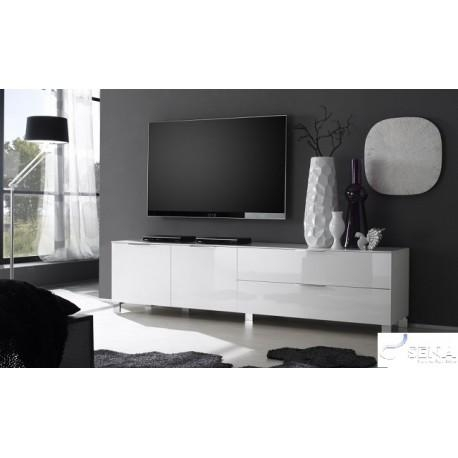 Solo I High Gloss Tv Stand – Tv Stands – Sena Home Furniture Intended For Most Recently Released White Gloss Tv Cabinets (Image 16 of 20)
