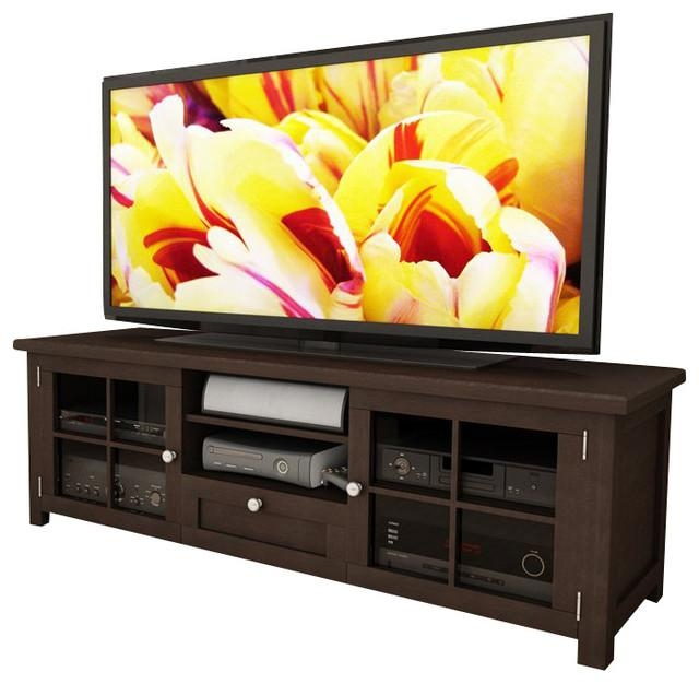 "Sonax Arbutus 63"" Dark Espresso Stained Tv Bench In Espresso Throughout Most Popular Bench Tv Stands (Image 16 of 20)"