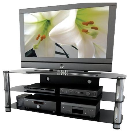 "Sonax Metal And Glass Tv Stand For Up To 65"" Tv's – Entertainment In Latest Sonax Tv Stands (Image 10 of 20)"