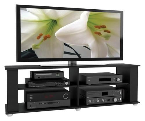 "Sonax Tv Stand For Tvs Up To 68"" Black Fs 3580 – Best Buy With Newest Sonax Tv Stands (Image 13 of 20)"