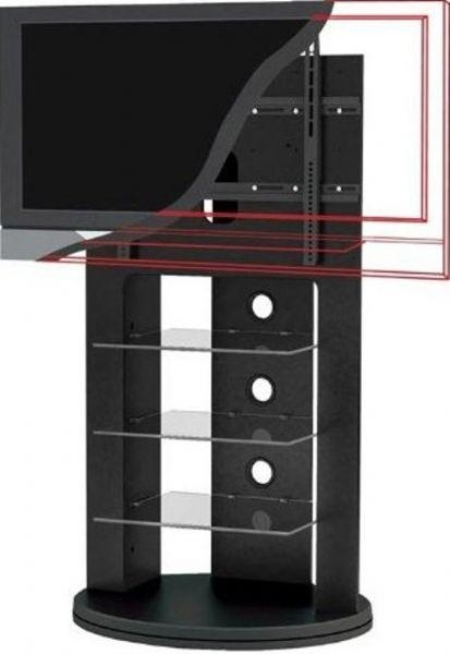 "Sonax Zx 8680 Swivel Base Mounted Tv Stand For 37""  52"" Tv's Within Recent Upright Tv Stands (Image 12 of 20)"