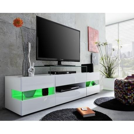 Sonic – Tv Stand With Optional Led Lights – Tv Stands – Sena Home With Most Current Tv Stands With Led Lights (View 6 of 20)