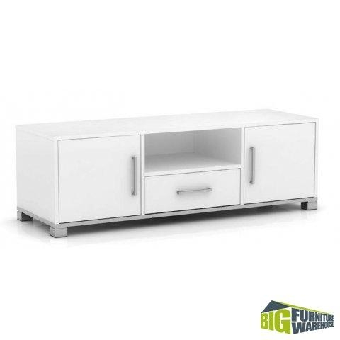 Sorrento White Tv Cabinet | Big Furniture Warehouse Within Most Popular Long White Tv Cabinets (Image 12 of 20)