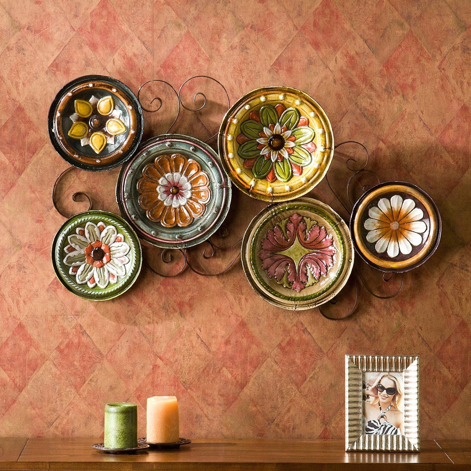 Featured Photo of Scattered Italian Plates Wall Art