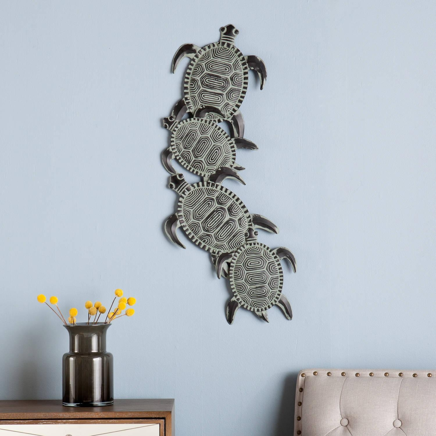 Southern Enterprises Zamora Hand Painted And Glazed Wall Art Pertaining To Sea Turtle Metal Wall Art (Image 15 of 20)