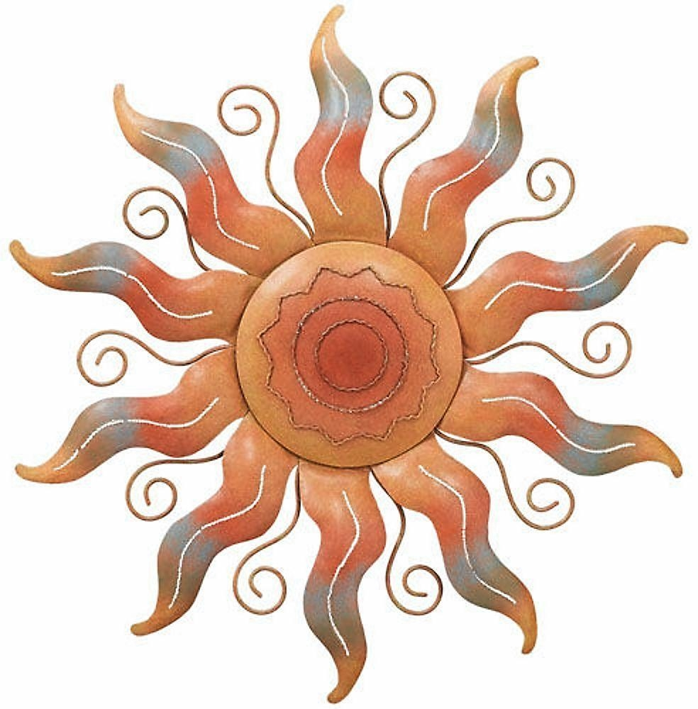 Featured Image of Large Metal Sun Wall Art