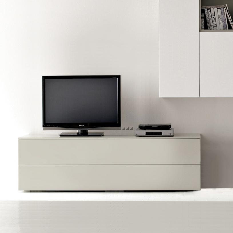 Space Cream Low Tv Unit 150Cm Within Most Recent Tv Drawer Units (Image 15 of 20)