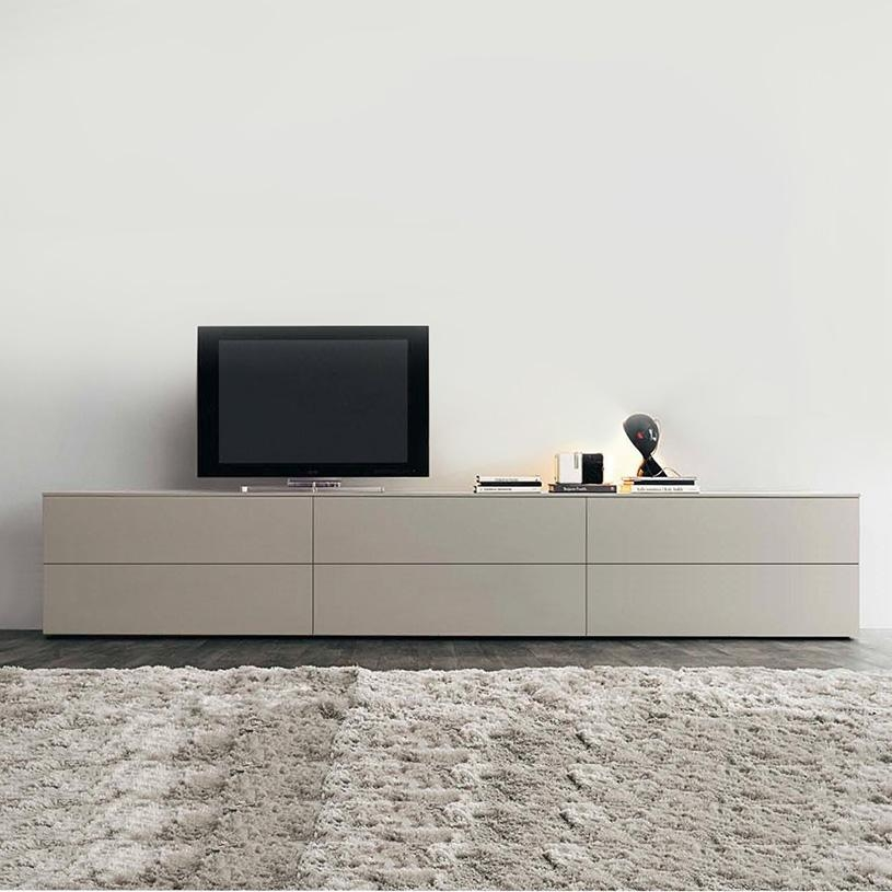 Space Extra Large Blue High Gloss Tv Unit, 300Cm Regarding 2017 Cream Tv Cabinets (Image 17 of 20)