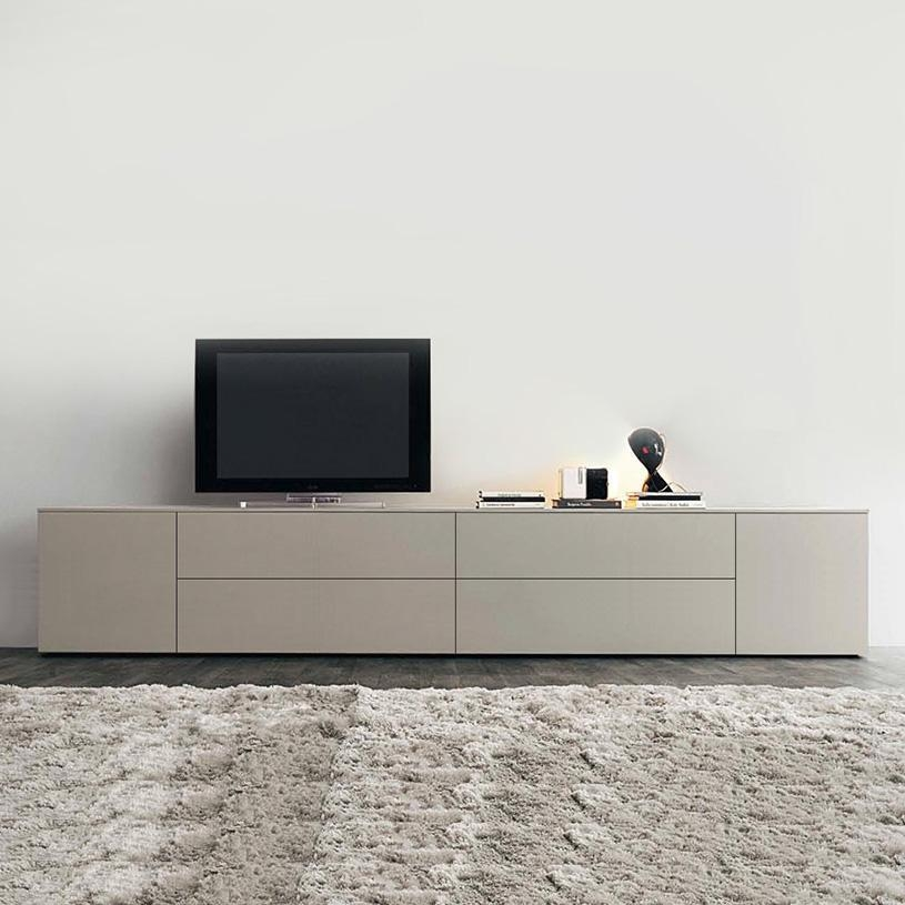 Space Extra Large Cream Tv Unit, Gloss Or Matt For Most Current Tv Drawer Units (Image 16 of 20)