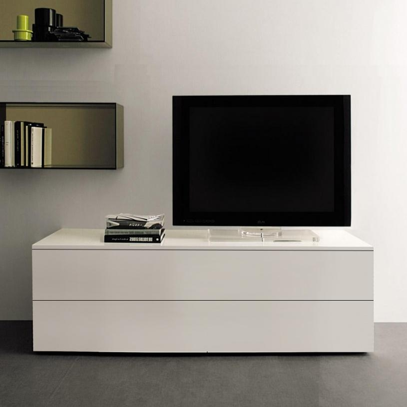 Space Small Tv Unit, White Gloss Within Newest Tv Drawer Units (View 10 of 20)