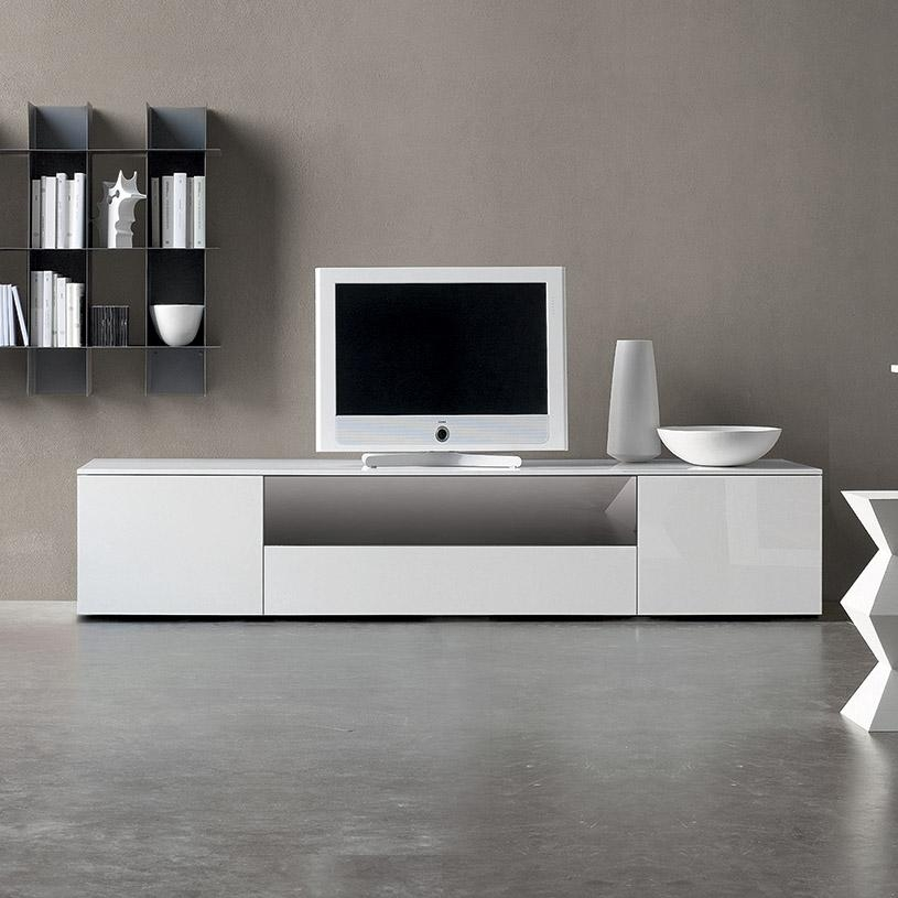Space White High Gloss Tv Unit With Most Current White High Gloss Tv Unit (Image 17 of 20)