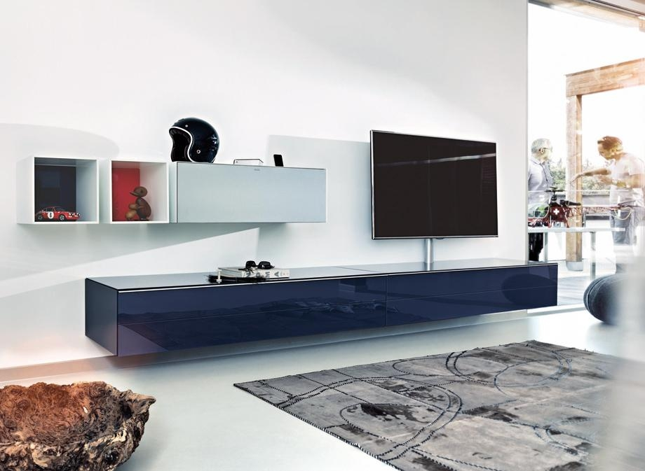 Spectral Scala Sc1650 Gloss Black Lowboard Tv Cabinet – Spectral Inside Most Recently Released Large Black Tv Unit (View 19 of 20)