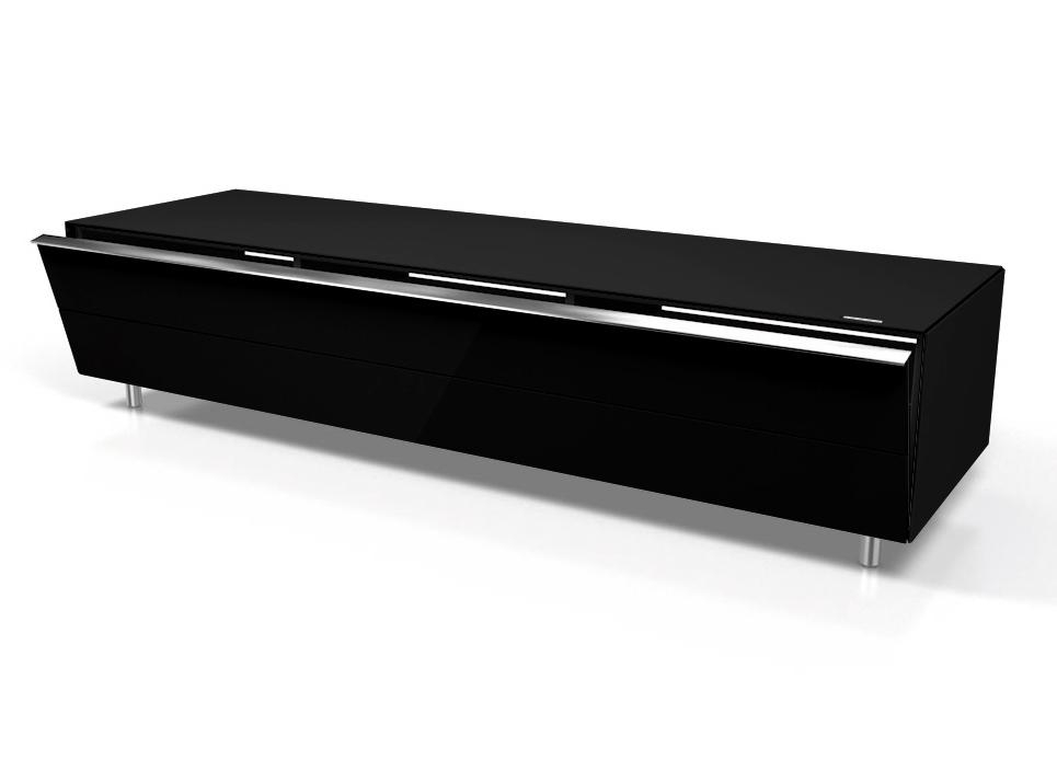 Spectral Scala Sc1650 Gloss Black Lowboard Tv Cabinet – Spectral Regarding 2018 Large Black Tv Unit (Image 18 of 20)