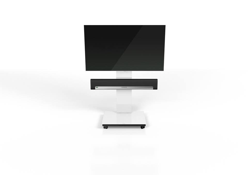 Spectral Tray Px600Sx White Gloss Glass Tv Stand W/ Sonos Playbar Throughout 2017 Sonos Tv Stands (View 9 of 20)