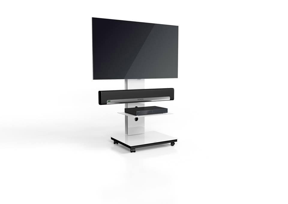 Spectral Tray Px601Sx White Gloss Glass 1 Shelf Tv Stand W Throughout Recent Sonos Tv Stands (View 4 of 20)