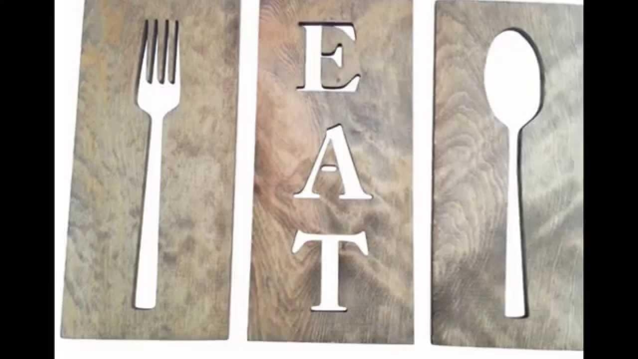 Spoon And Fork Wall Decor # Diy Fork And Spoon Wall Decor – Youtube With Regard To Wooden Fork And Spoon Wall Art (View 11 of 20)