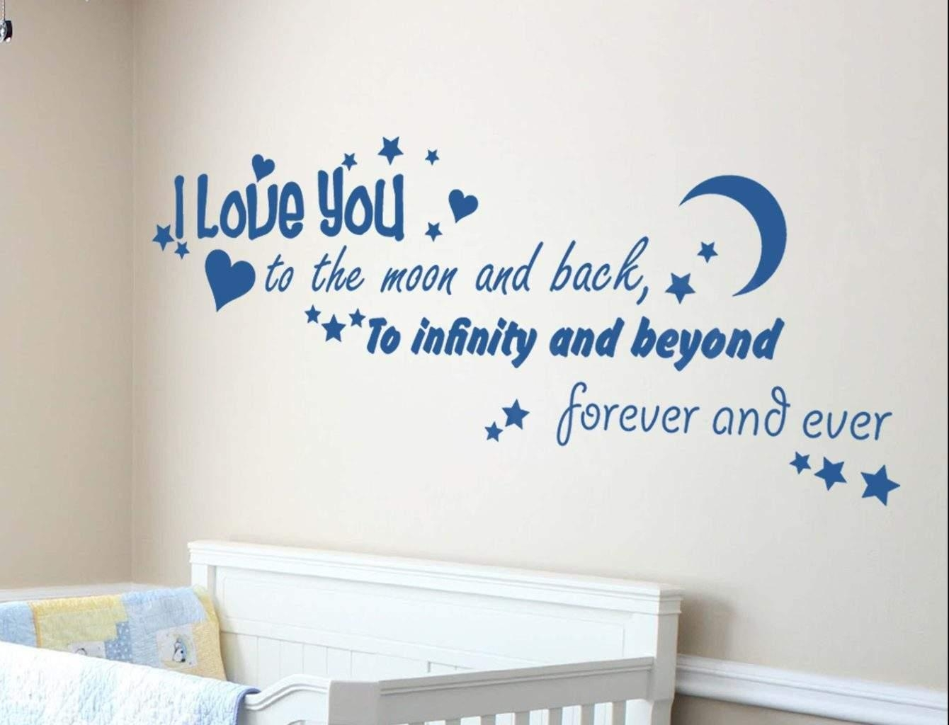 Spread Love With Love Based Wall Decals Pertaining To Love You To The Moon And Back Wall Art (Image 18 of 20)